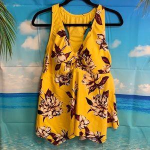 Kona Sol Yellow Swim Top 18W #AA038